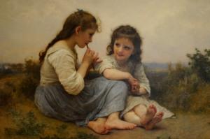 William-Adolphe Bouguereau - Childhood Idyll (w/o frame)